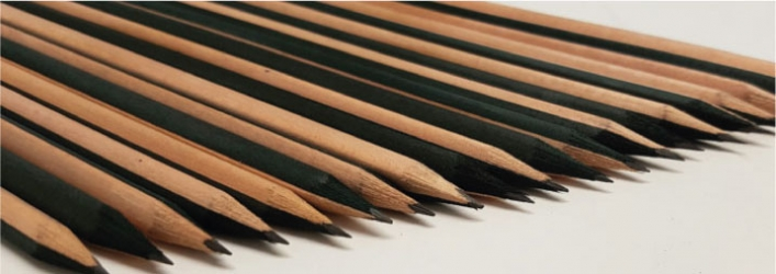 Two tone printed pencils