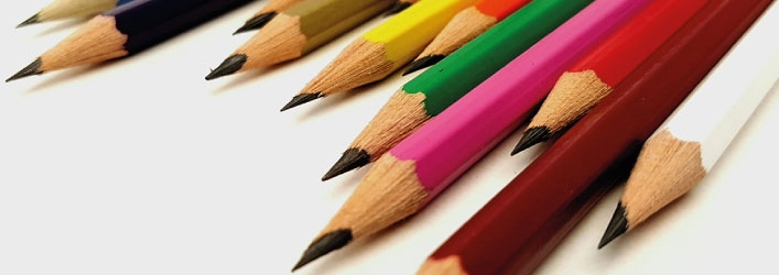 Logo pencils with colour leads