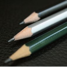 2B hexagonal pencil - with eraser
