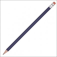 Classic round wooden pencil - 2B lead - with eraser