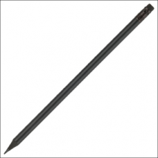 Black Knight round wooden pencil - with eraser