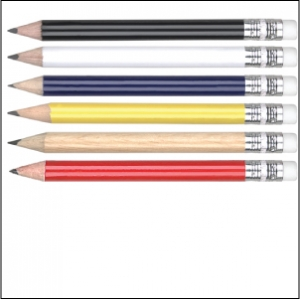 Mini golf pencils - with eraser