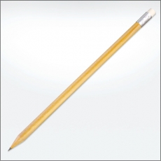 Sustainable wooden pencil - with eraser
