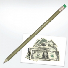 Recycled MONEY pencils - with eraser